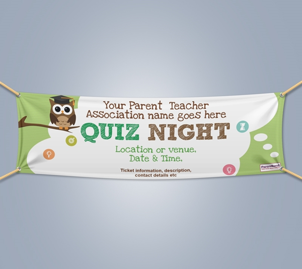 Picture of Quiz Night Landscape Outdoor PVC Banner - 1m x 4m