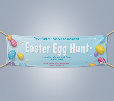 Picture of Easter Landscape Outdoor PVC Banner - 1m x 4m