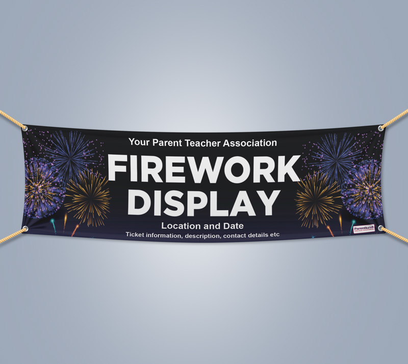 Picture of Fireworks Landscape Outdoor PVC Banner - 1m x 4m