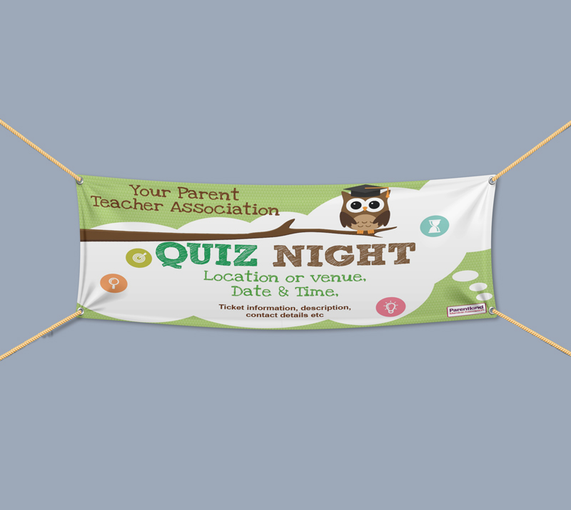 Picture of Quiz Night Landscape Outdoor PVC Banner - 1m x 2m