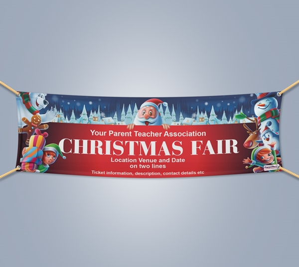 Picture of Christmas Landscape Outdoor PVC Banner - 1m x 3m